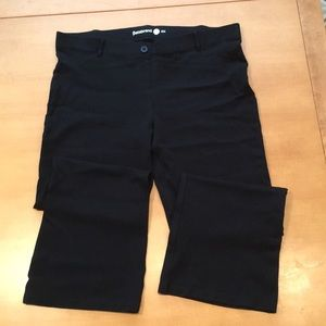 Betabrand bootcut black yoga dress pants